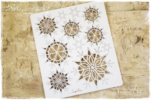 Chipboard - Fiocchi di neve Magic Lights