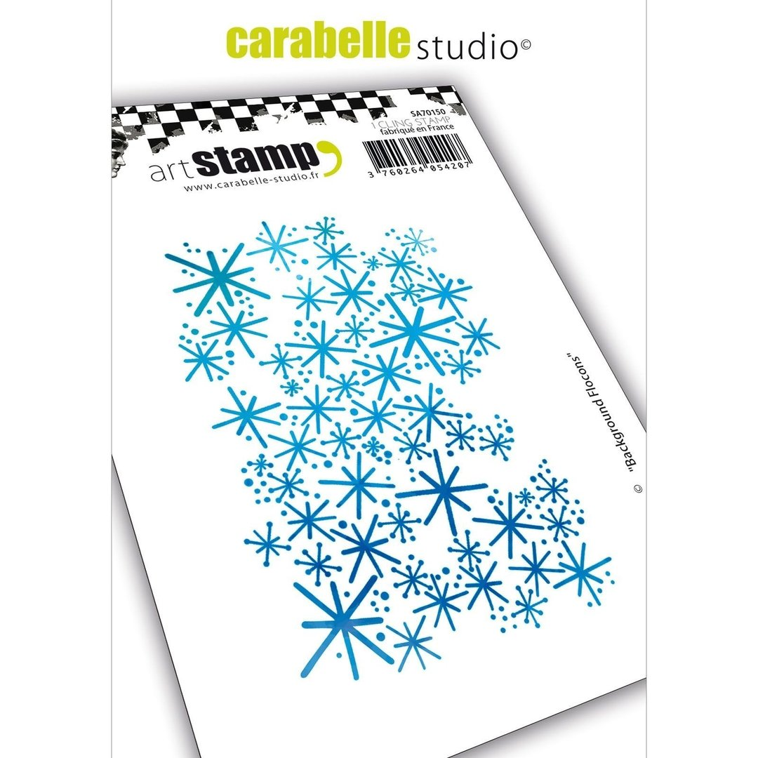 Cling Stamp A7: Background flocons - Carabelle Studio
