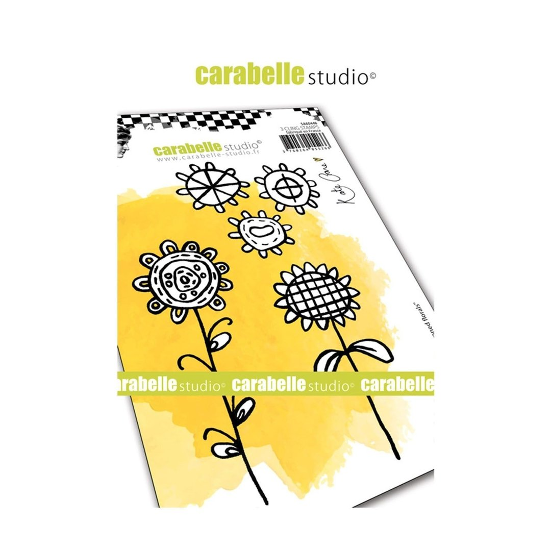 Cling Stamp A6: Crayoned florals - Carabelle Studio