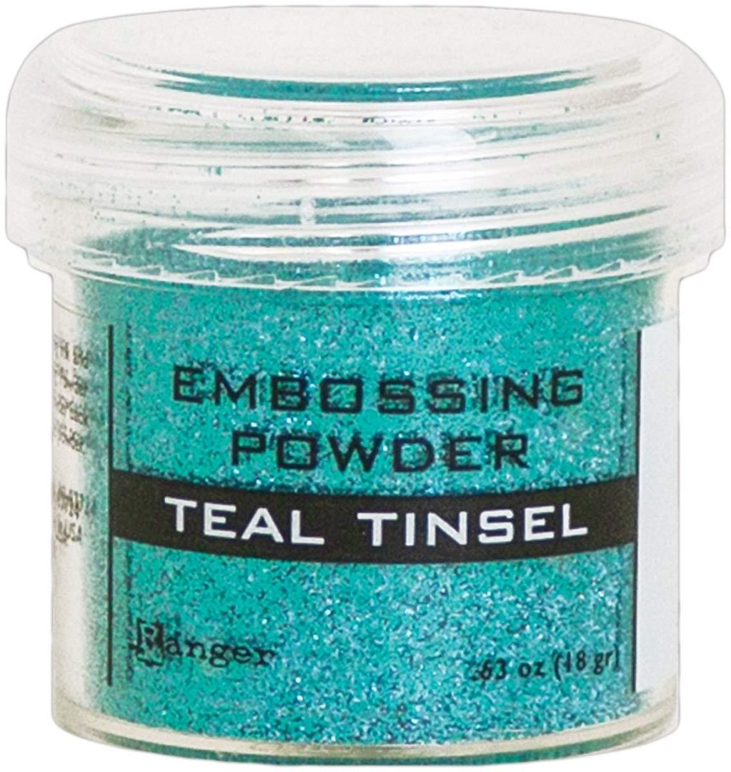 Teal tinsel - Ranger embossing powder