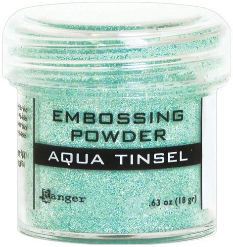 Aqua tinsel - Ranger embossing powder