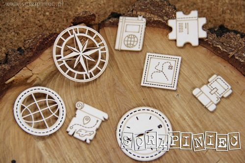 Chipboard Hello World Compass - Scrapiniec
