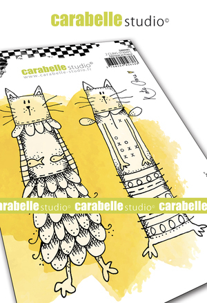 Cling Stamp A6: Kooky Cats - Carabelle Studio