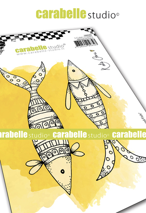 Cling Stamp A6: Well Dressed Fish - Carabelle Studio