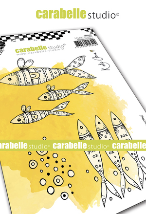 Cling Stamp A6: Keep Swimming - Carabelle Studio