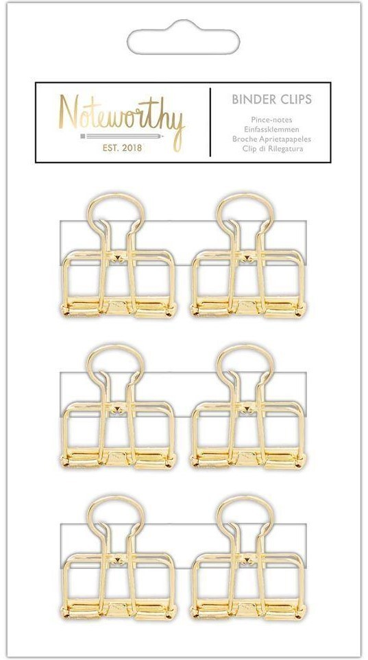 Noteworthy - Metallic Mono Binder Clips