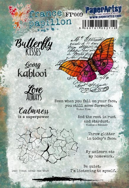 Timbro 009 - France Papillon for Paperartsy