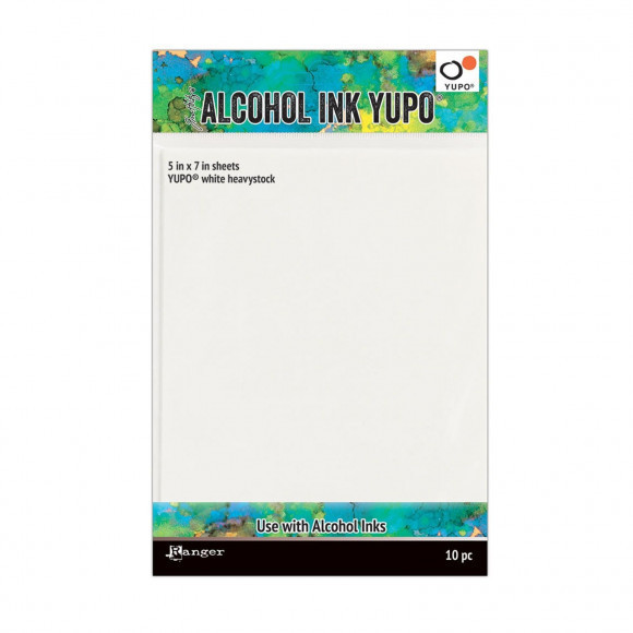 Alcohol ink Yupo paper white heavystock, 12x17cm - Tim Holtz