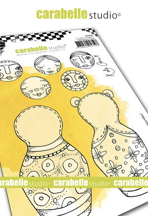Cling Stamp A6 : Build a Baboushka by Kate Crane - Carabelle Studio