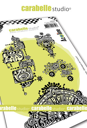 Cling Stamp A6 : Azo' freestile : Western Ethnic by Azoline - Carabelle Studio