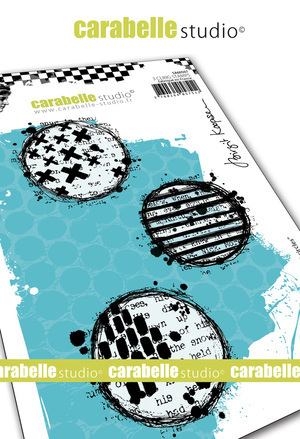 Cling Stamp A6 : Textured Circles by Brigit Koopsen - Carabelle Studio