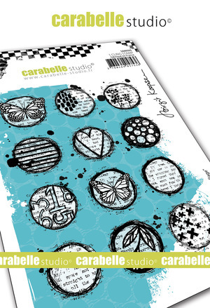 Cling Stamp A6 : Circles Collage by Brigit Koopsen - Carabelle Studio