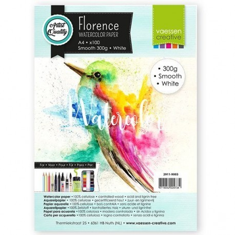 Carta da acquerello Florence - Smooth White 300 g