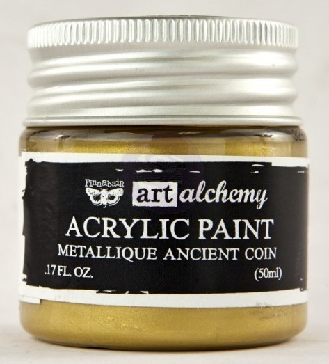 Ancient Coin - Acrylic Paint Metallique Prima Marketing