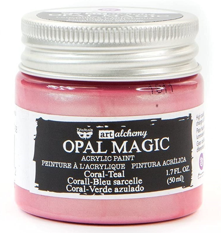 Coral Teal - Acrylic Paint Opal Magic Prima Marketing